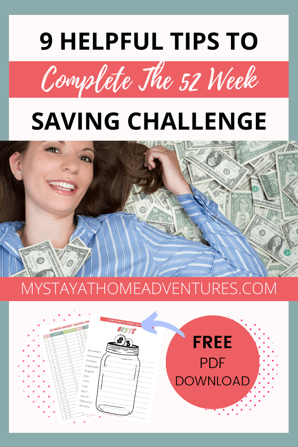 Are you ready to start the 52 Week Saving Challenge? Learn how to complete this popular money-saving challenge with these 9 tips. via @mystayathome