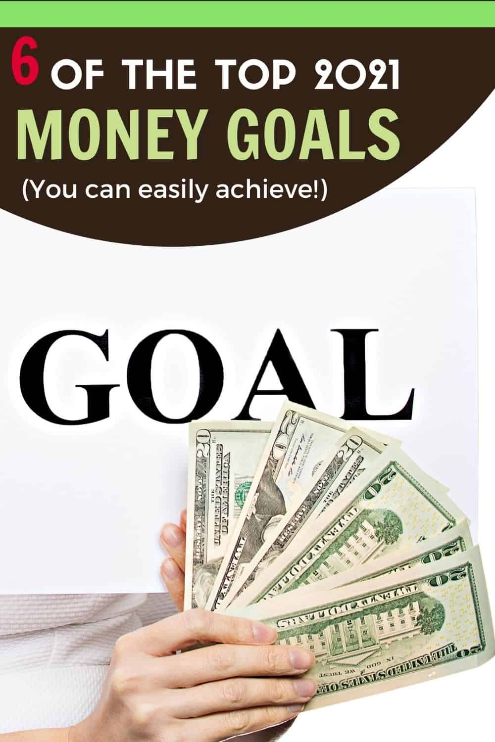 Consider doing these six top 2021 money goals that are easy to do and easy to achieve. Learn what they are and how to achieve them today. via @mystayathome