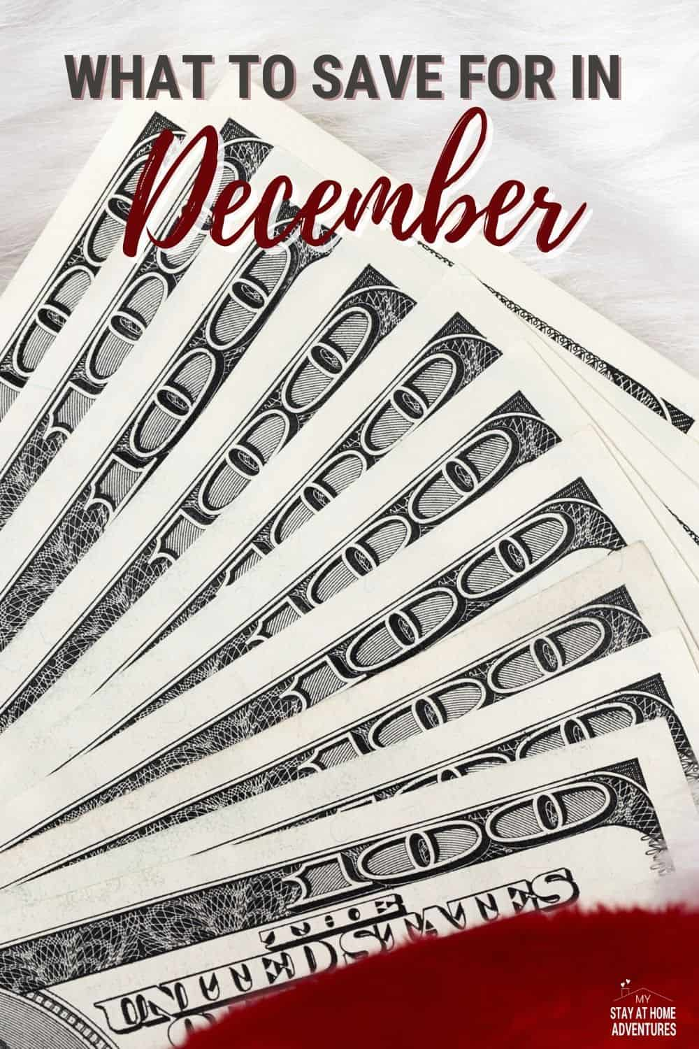 Learn five things to save for in December and the reasons behind it. Before you budget, make sure you save smart this December. via @mystayathome