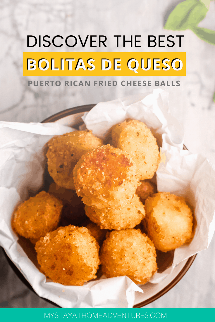 Learn how to make this simple and delicious fried cheese balls Puerto Rican style. Bolitas de Quesos are easy to make with ingredients you already have! via @mystayathome