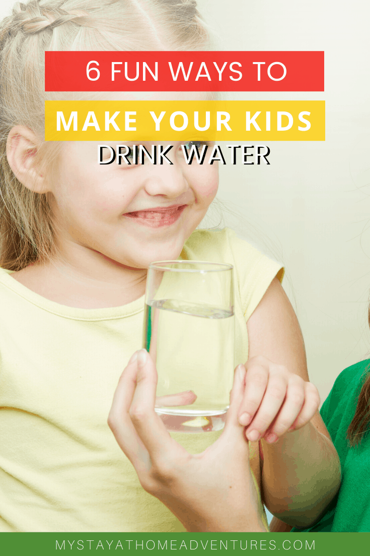 Who wants to make kids drink more water? Try these six tricks to help your kids drink more water and start healthy habits at home today. via @mystayathome