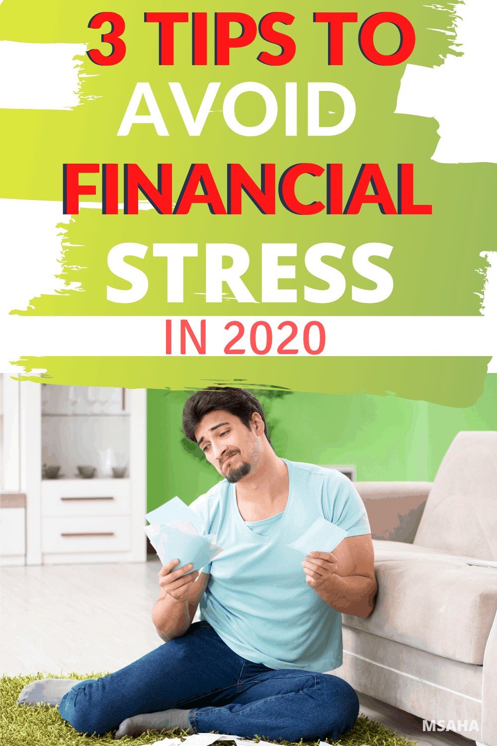 Learn the top 3 ways you can reduce your financial stress starting today. What is financial stress and how to start to avoid it starting today.  via @mystayathome