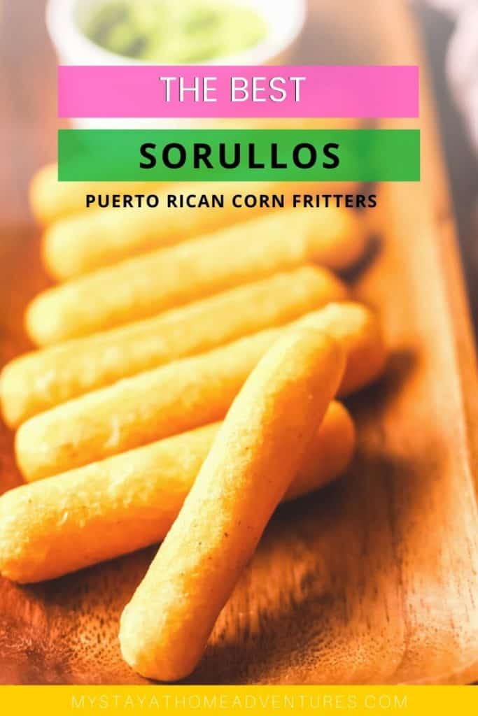 Plated sorullitos on a a long brown dish