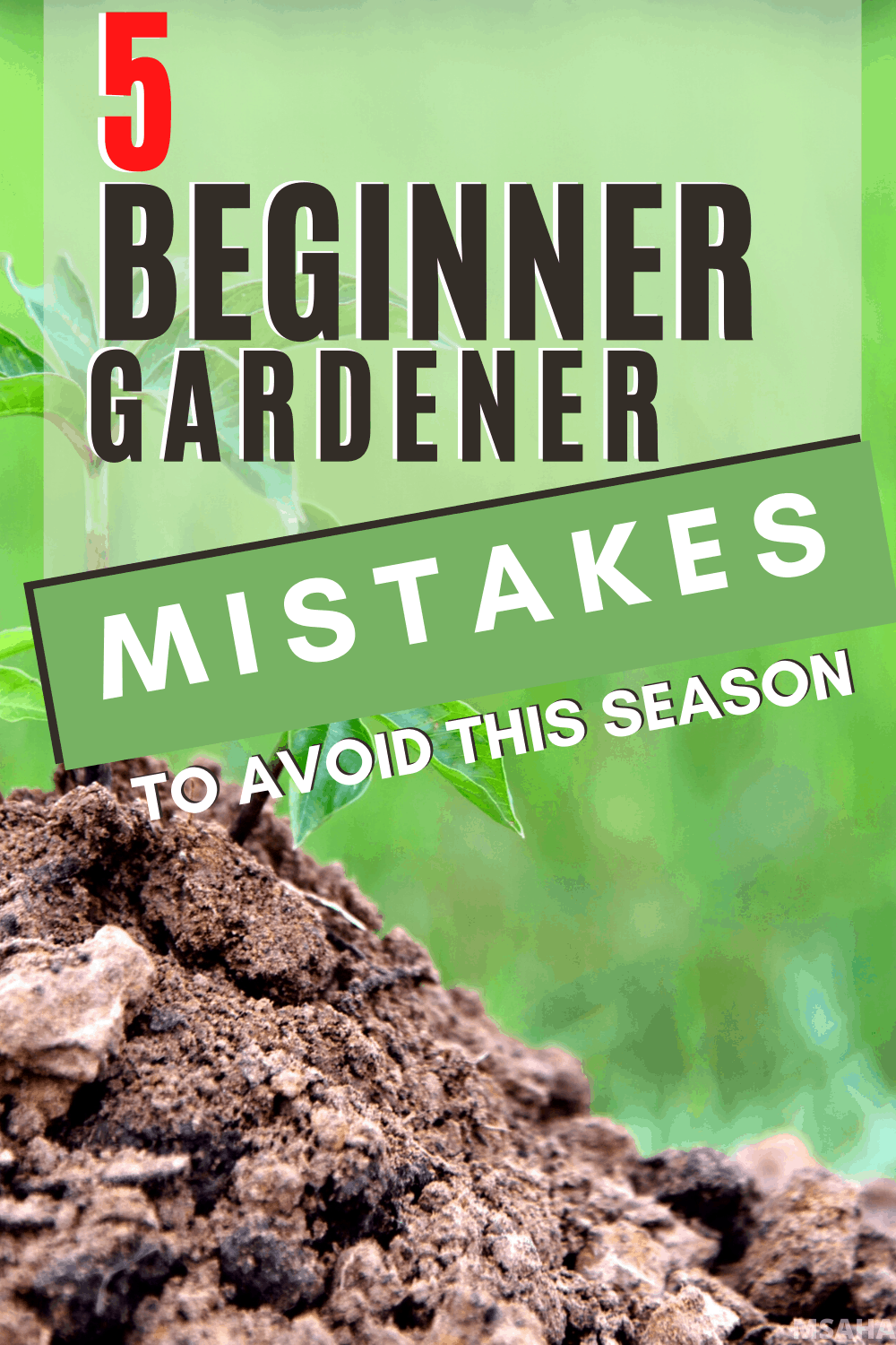 There are five first time gardener mistakes to avoid that we all do, and you can avoid. Learn what they are and what to do this gardening season instead. via @mystayathome