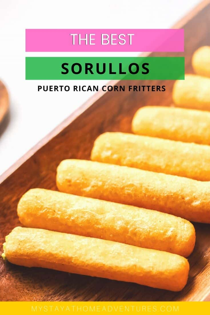 Learn how to make this cheesy Sorullitos. Sorullos are delicious corn fritters that are crispy on the outside and soft on the inside. #latinfood #puertoricanfood #hispanicfood via @mystayathome