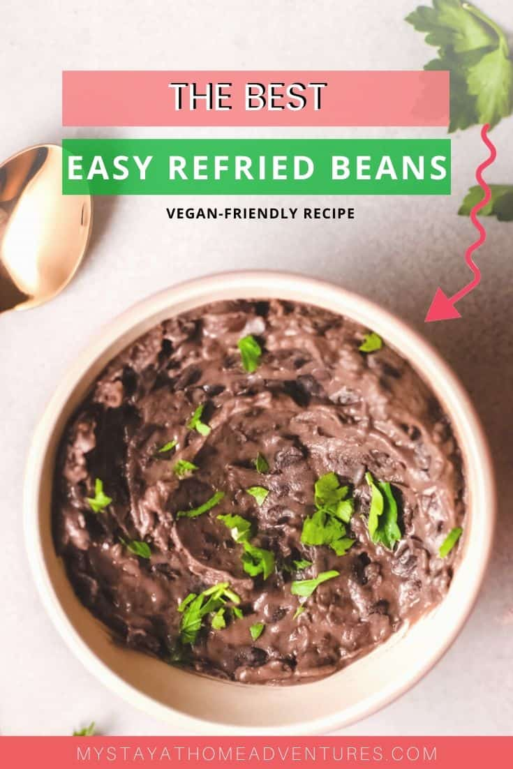 Classic refried beans recipe is super creamy and oh so delicious plus vegan-friendly as well. Made with ingredients you already have at home. via @mystayathome