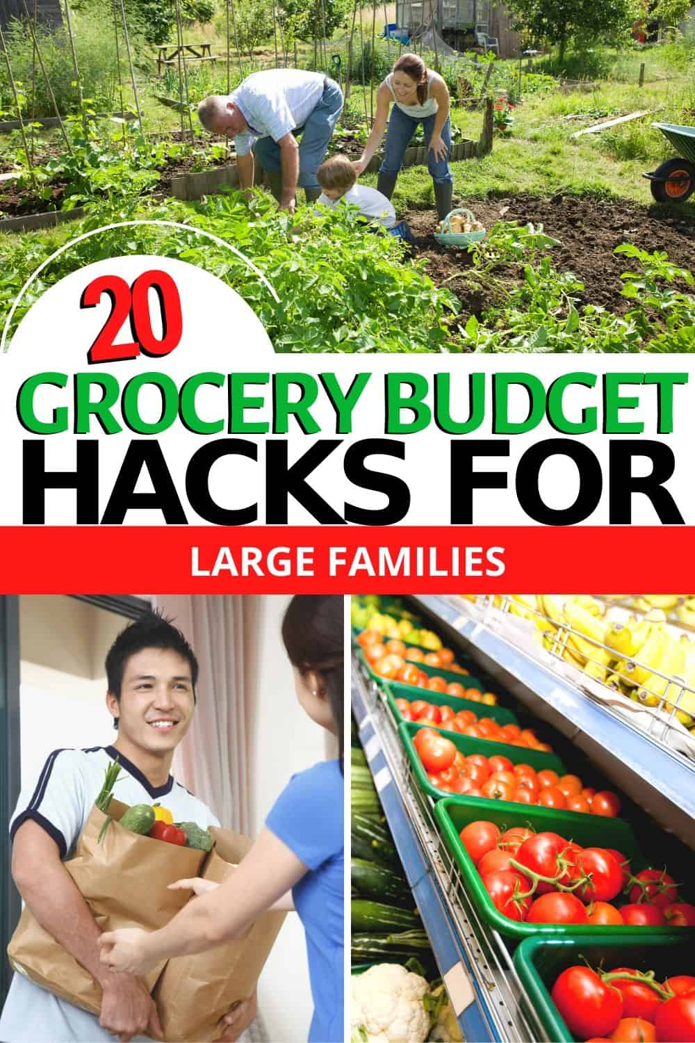 Want to learn how they do it? Here are 20 Grocery Budget Hacks for Big Families to help you save money. And no you don't need a big family to save! via @mystayathome