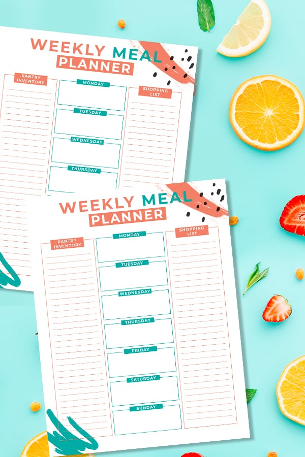 Find the cutest weekly meal planning printables and some you can edit too. Learn how to meal plan correctly and download these free meal plan printables. via @mystayathome