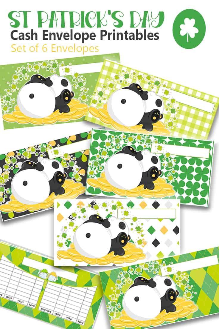 Check out these 30 St. Patrick's Day cash envelopes printable to rock your cash budgeting with style. Cash envelopes will fit the most popular cash wallets. #cashenvelopes #StPatricksDay #Cashenvelopetemplates via @mystayathome