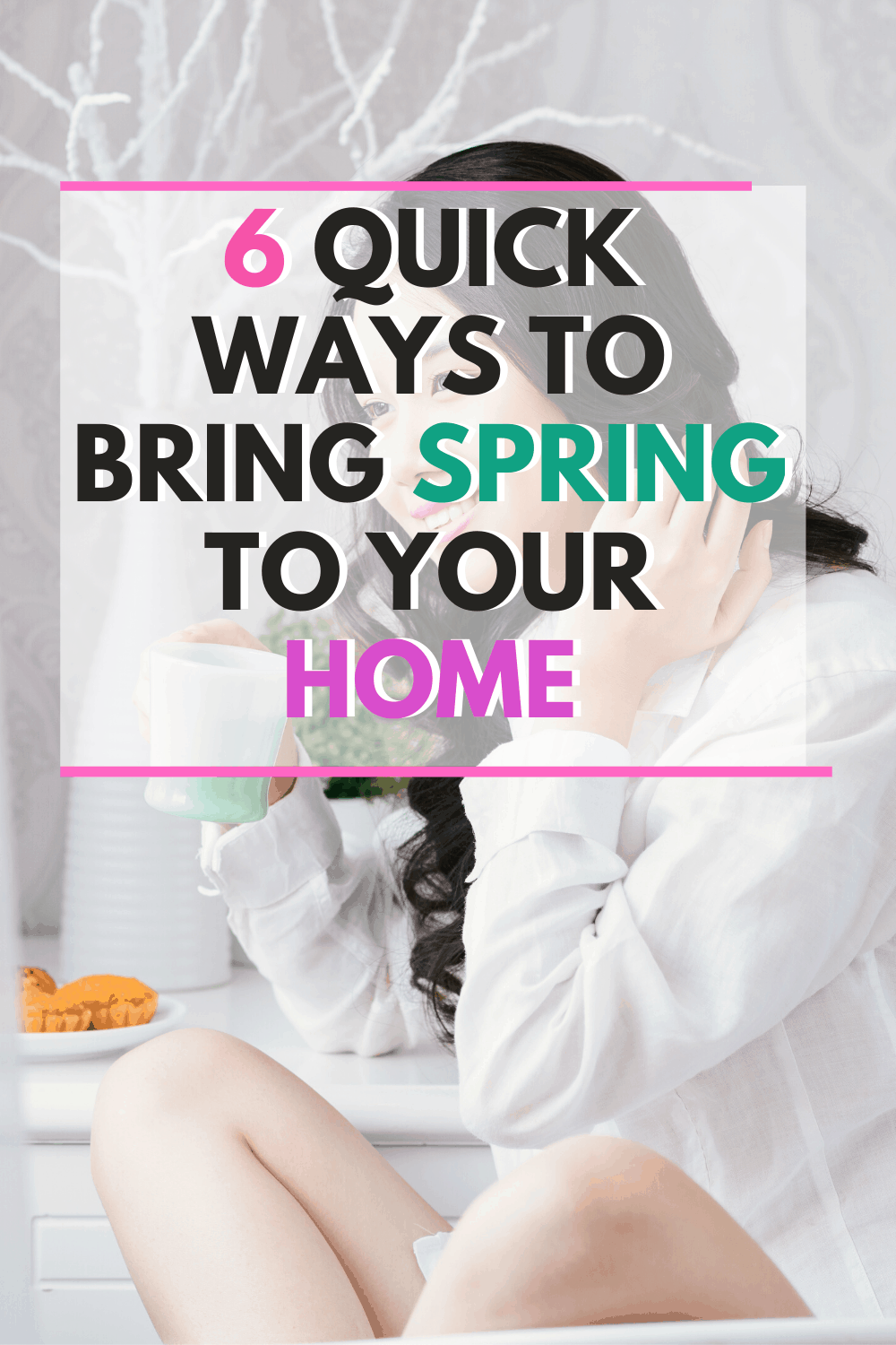 There are 6 quick ways to bring spring to your home and it doesn't have to bust your budget! Get ready to enjoy a touch of Spring in your home this season. #springcleaning #cleanyourhome #springdecoration via @mystayathome