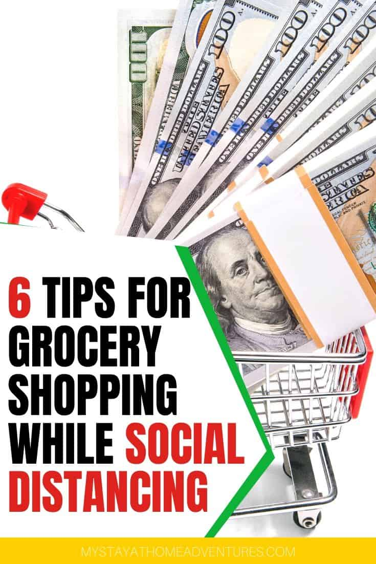 Grocery shopping, while social distancing, can be an inconvenient but doable and crucial. Here are tips to save time and money grocery shopping today. via @mystayathome
