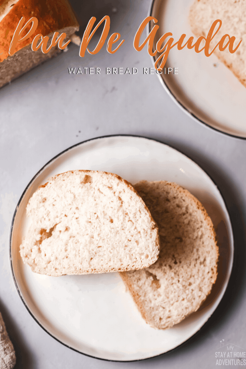 Pan de Agua or Puerto Rican water bread is an easy-to-make bread like French bread or Italian bread, but the baking technique is different. #breadmaking #breadrecipe #puertoricanrecipe #puertoricanfood via @mystayathome