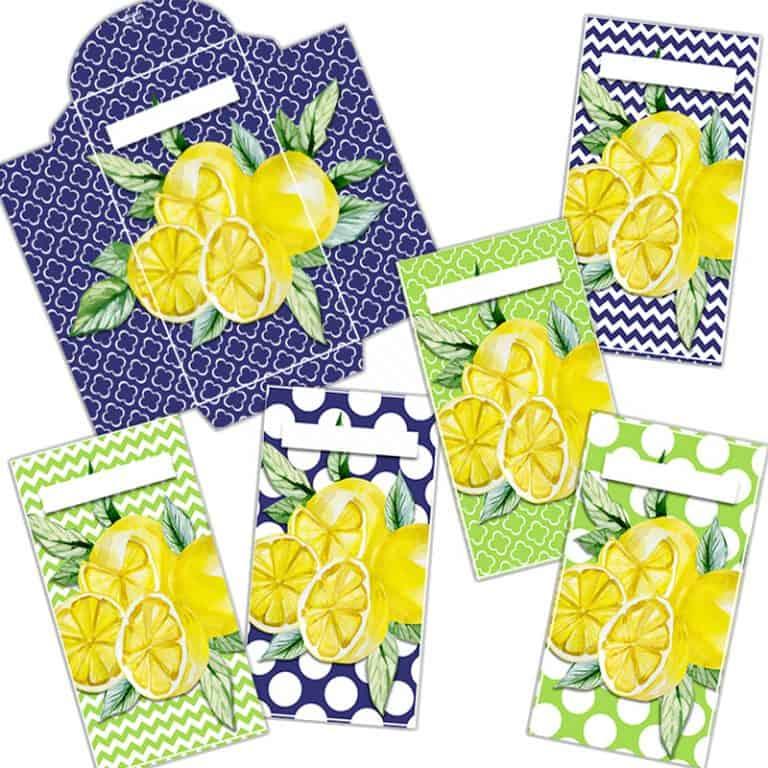 Yellow Lemon Cash Envelopes