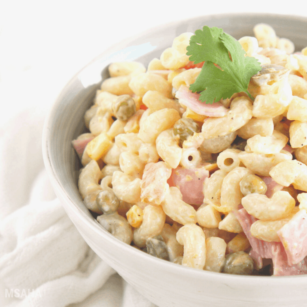 The Best Mexican Macaroni Ham Salad Recipe
