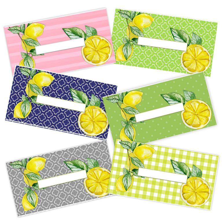 Lemon Cash Envelopes