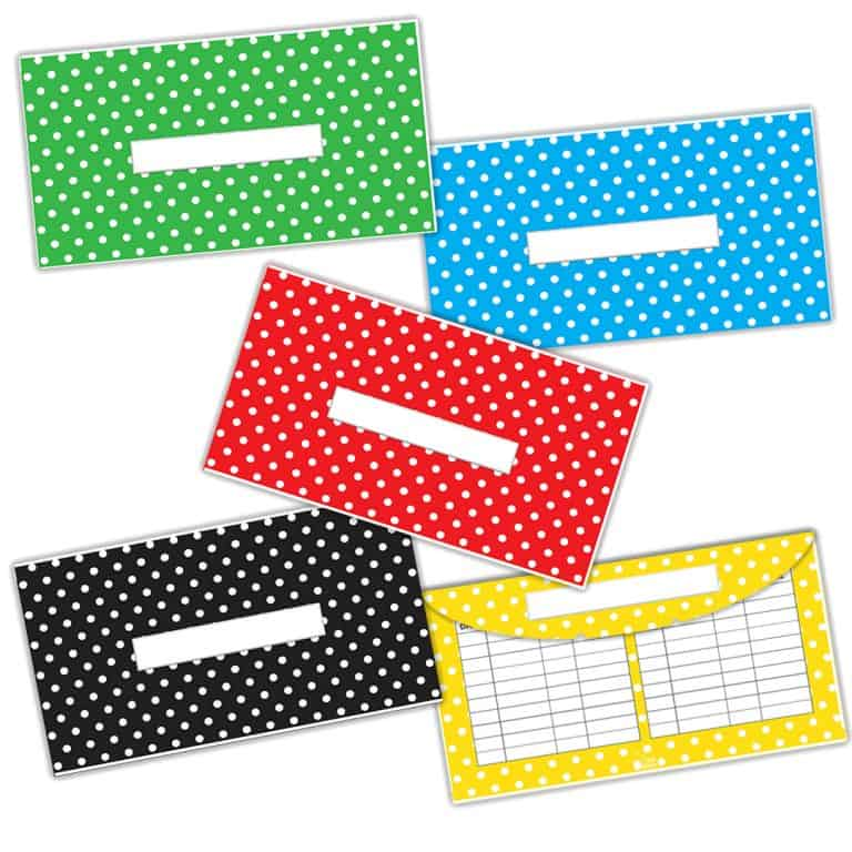 Polka Dots Cash Envelopes