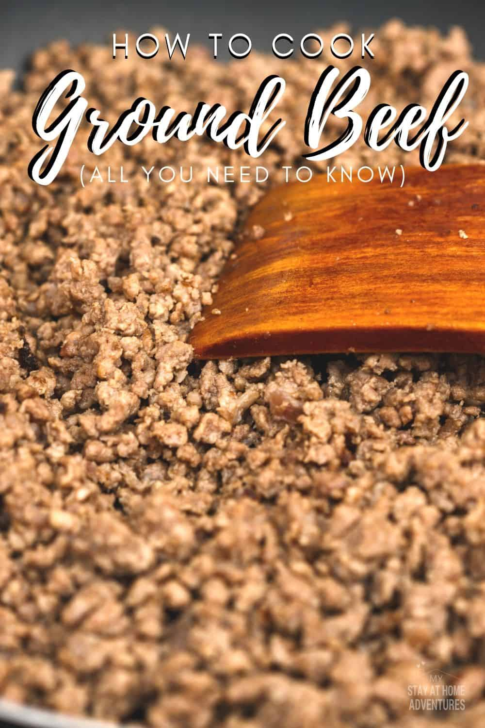 Learn not just how to properly cook ground beef from what are the types of ground beef, what utensils are best to use, and the proper way to cook it. via @mystayathome