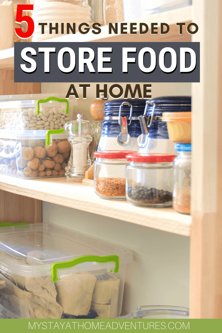 Thinking of starting to store food in your home? Learn the best food to store for emergencies and what food is the best food to store long term?  #storingfood #foodsafety #foodstorage via @mystayathome