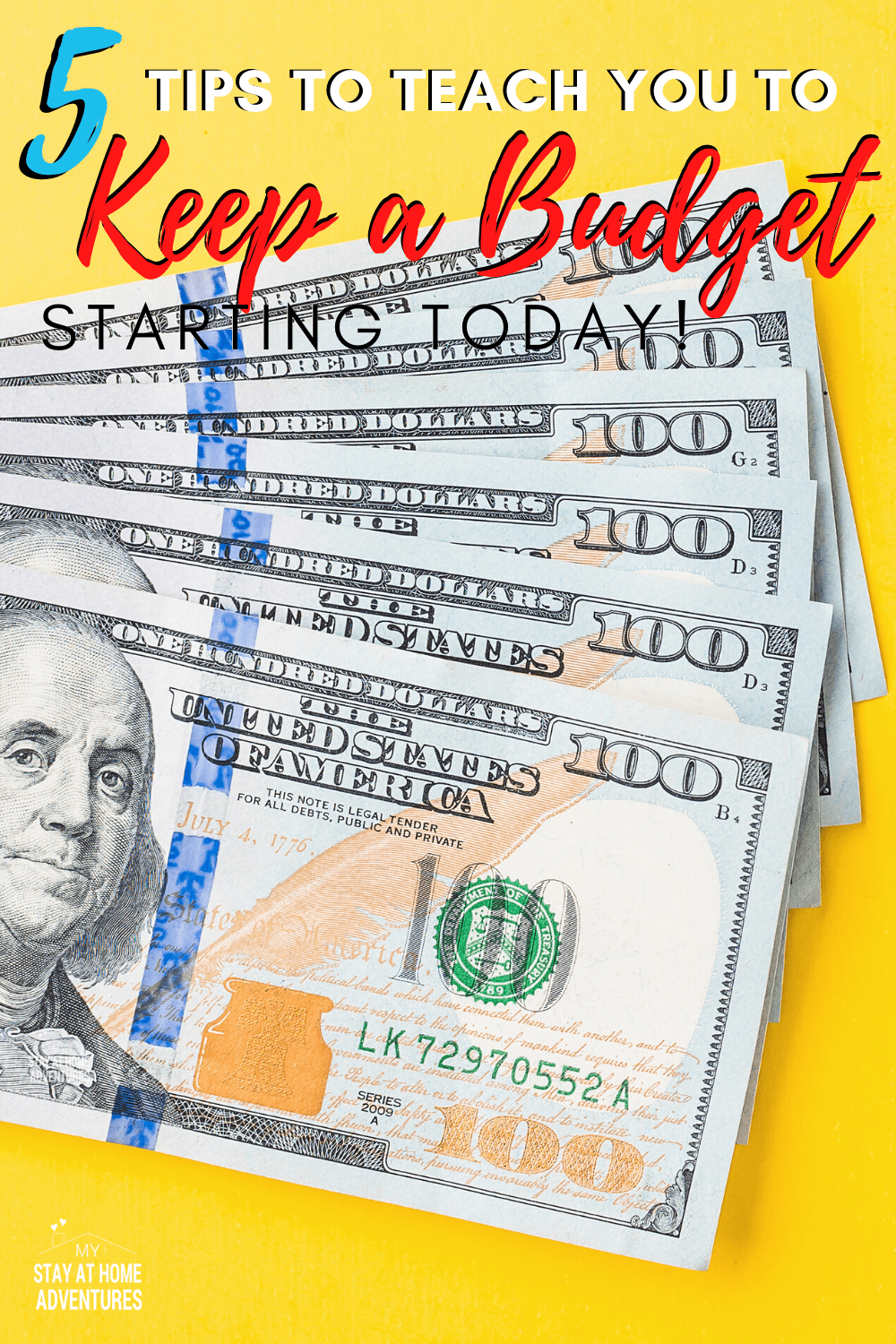 Starting a budget is not that hard; keeping it is! Learn five ways to how to keep a budget starting today that are real and honest. #budgeting #budget #reallife #moneytips #howto via @mystayathome