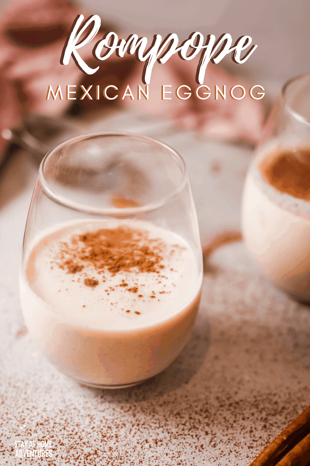 Rompope or Ponche de Huevo is similar to eggnog that is creamy and flavorful and popular in holidays made with eggs, rum, and spice. #mexicanrecipe #mexicandrink #holidaydrink #rompope #eggnog via @mystayathome