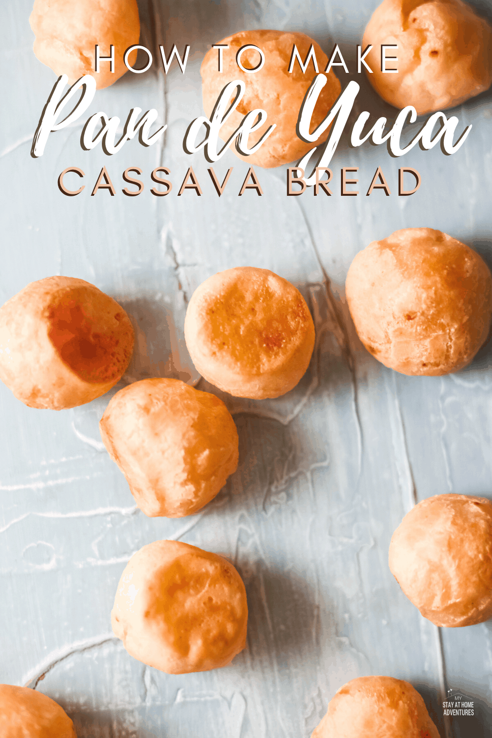 Pan de Yuca is the traditional Colombian recipe. It's similar (but not the same) to Brazilian Pao de Queijo. The texture is a bit different and it has less of a cheesy texture. #Colombianrecipe #yucabread #breadrecipe via @mystayathome