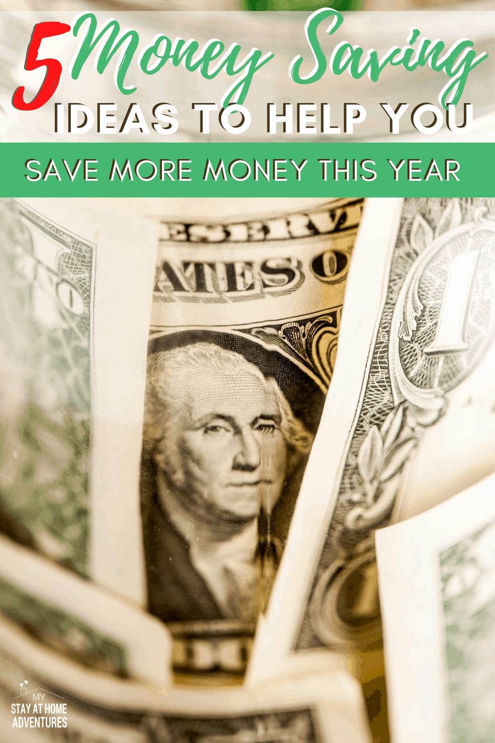 Tired of trying to save money without succeeding? Try these 5 money-saving ideas that will increase your savings in no time! via @mystayathome