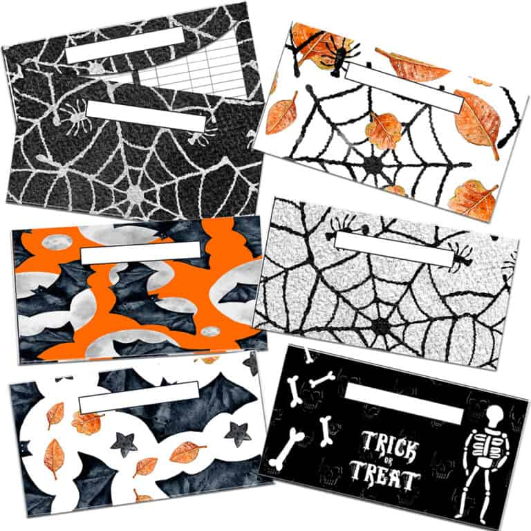 Halloween Cash Envelopes
