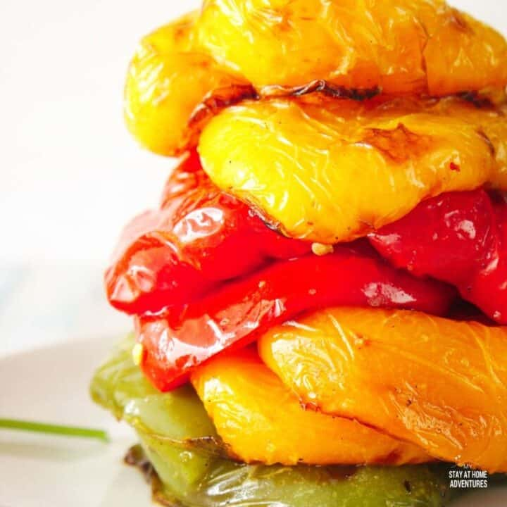 Roast Bell Peppers in the Air Fryer Recipe