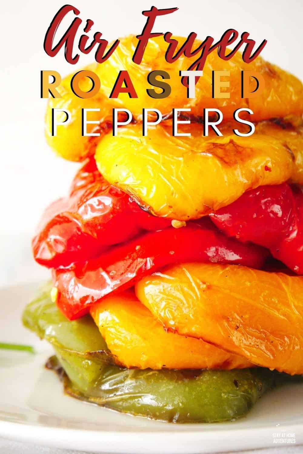Learn how to roast bell peppers using an air fryer with these techniques. Use them to make hummus, salads, soups, sauces, or snacks. via @mystayathome