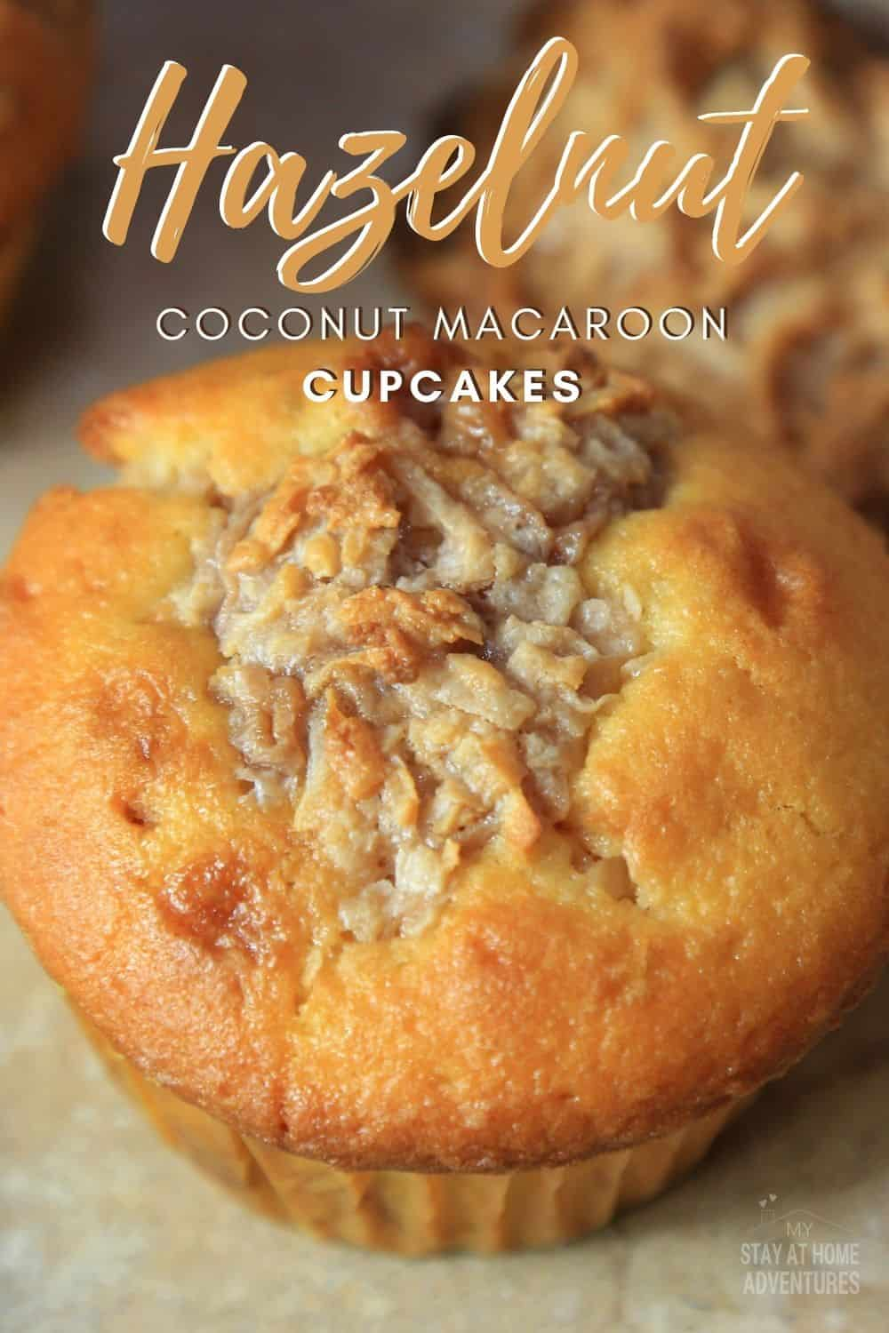 Calling all coconut macaroon lovers out there! Delicious cupcakes filled with hazelnut (Nutella) coconuts in the middle. via @mystayathome