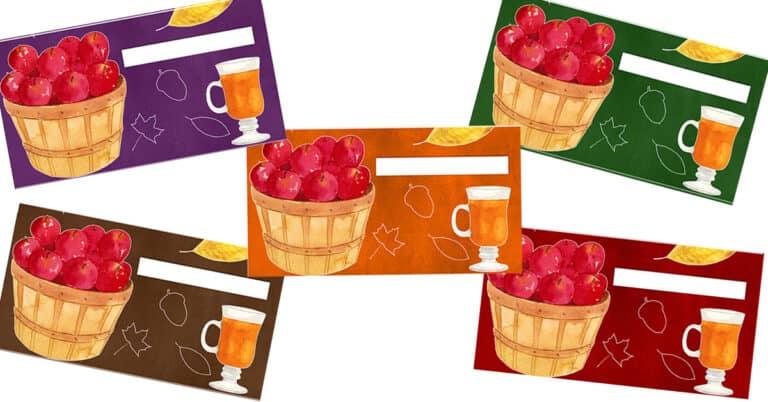 Autumn Apple Cash Envelopes