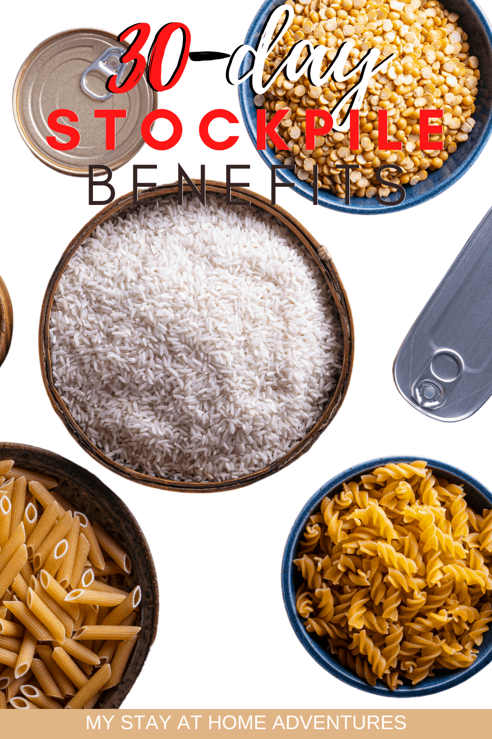 A 30-day stockpile is essential in every home. Learn Why is it so important to have a home stockpile and how to get started. via @mystayathome