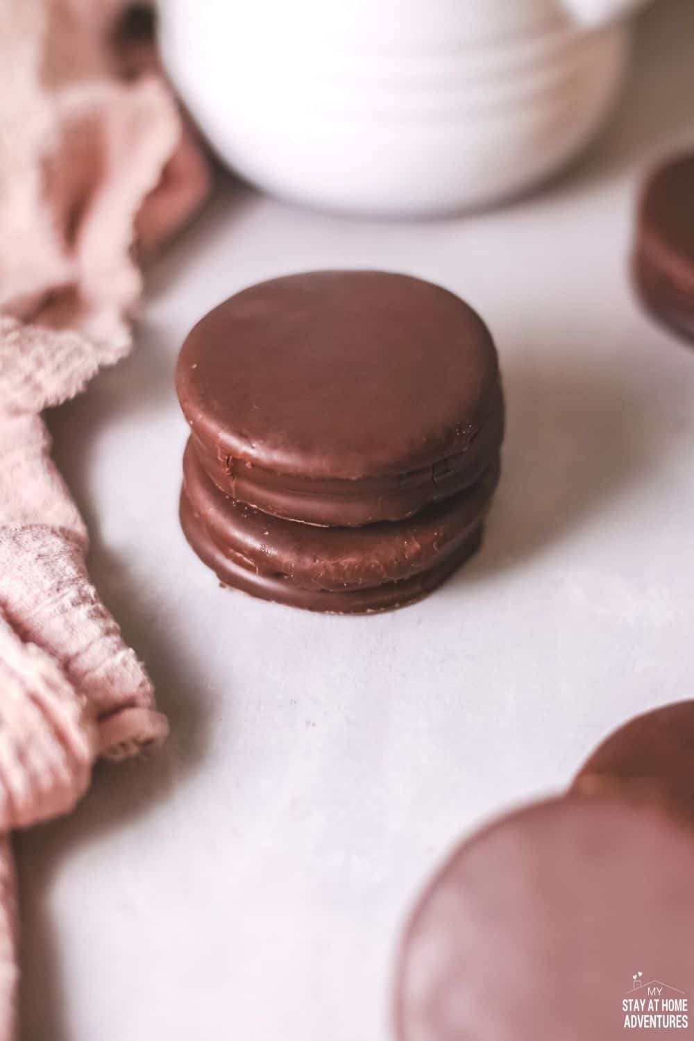 Alfajores have decadent fillings and are sometimes dipped in melted chocolate to make them even more special. via @mystayathome