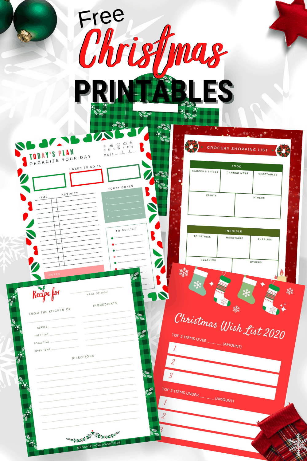 Hurry and download these Christmas-themed printables and so much more. Stay organized and on task this holiday season. via @mystayathome