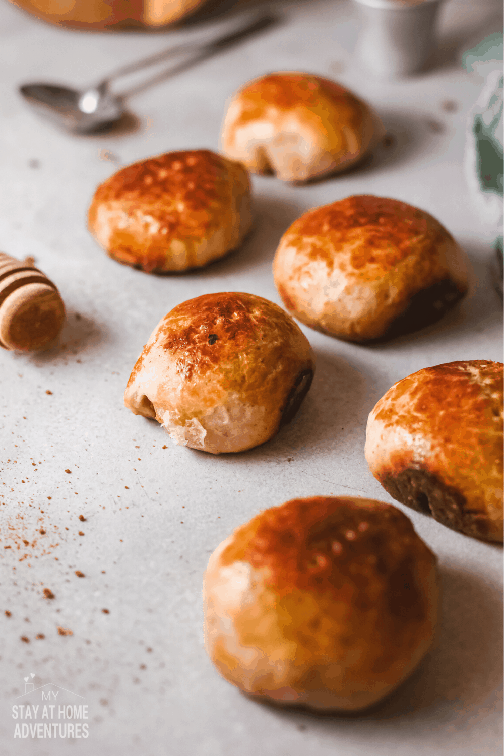 This coconut bread is a sweet bread roll filled with dried coconuts that you can enjoy with coffee or snack. via @mystayathome