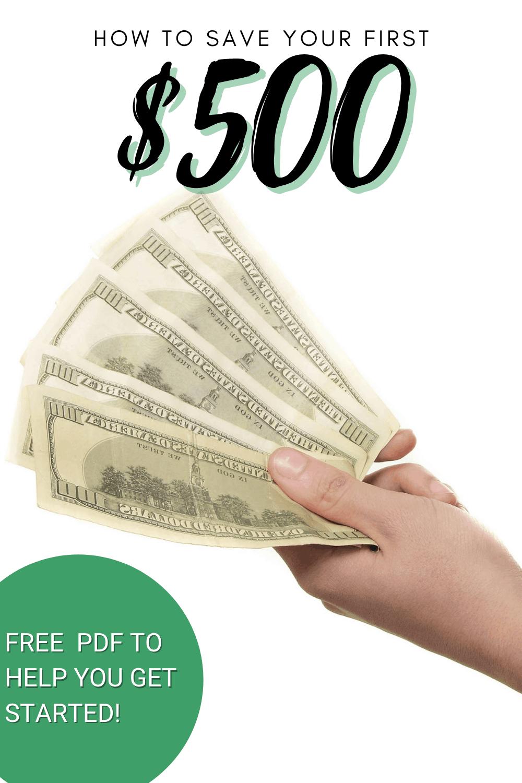 Learn four ways to help you save your first $500 that will get you results. #moneysaving #moneysavingtips #personalfinancebywomen via @mystayathome