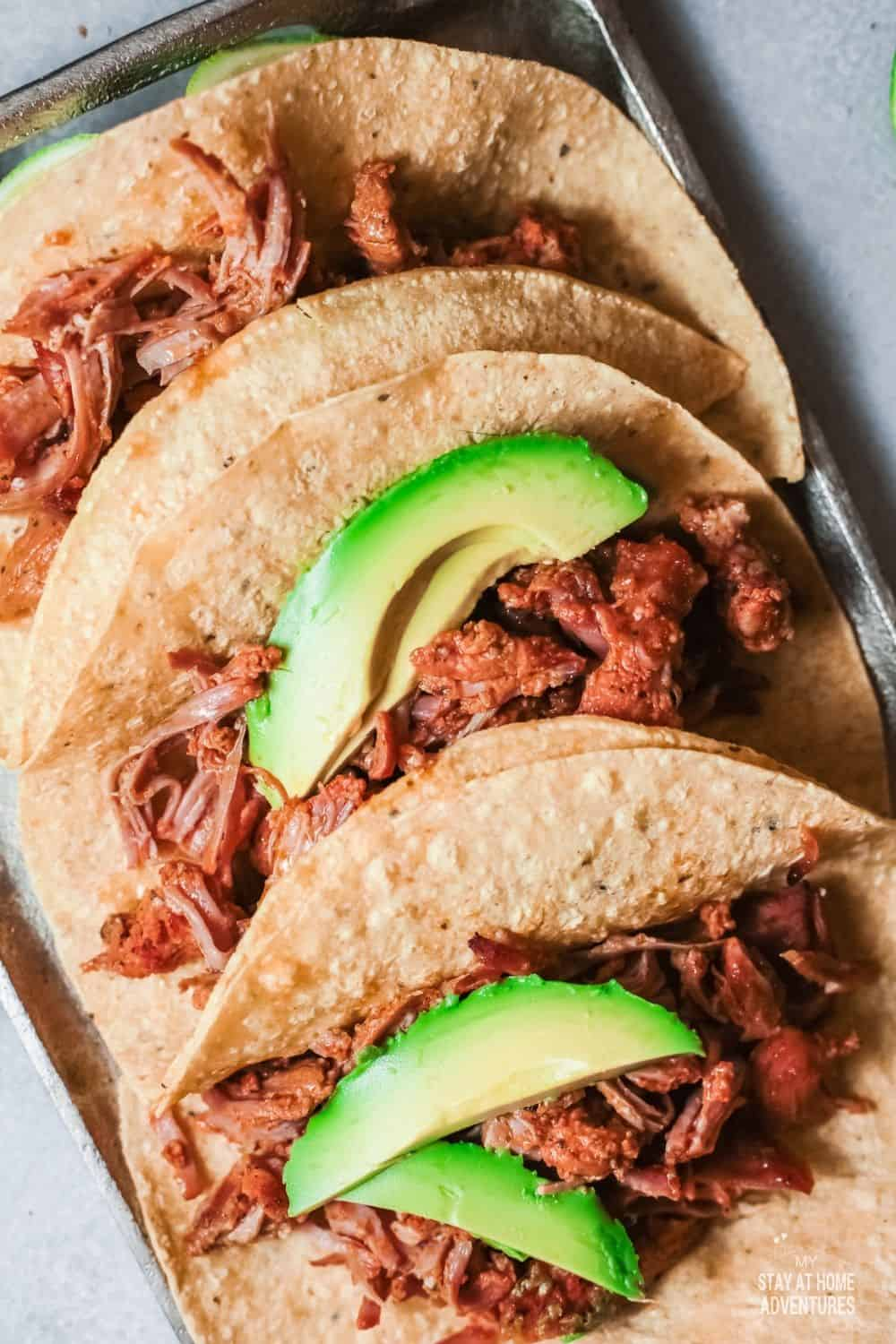 Learn all you need to know about Pork Tacos (Tacos al Pasto) from history to how to make them using an Instant Pot. #tacos #porktacos #instantpot via @mystayathome