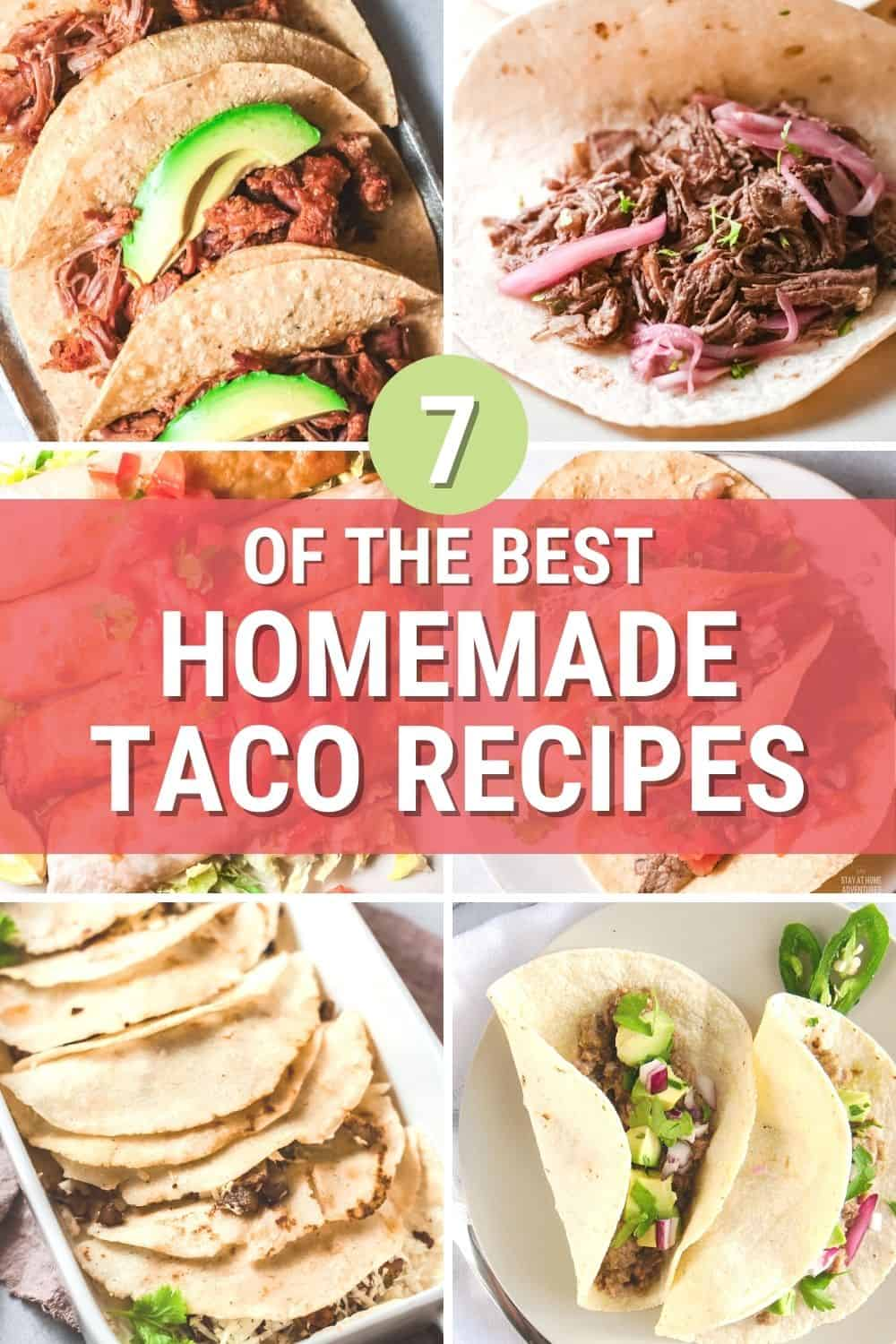 Looking for the best homemade tacos? Learn all you need to know about tacos while creating them at home, from pork to potato tacos. via @mystayathome