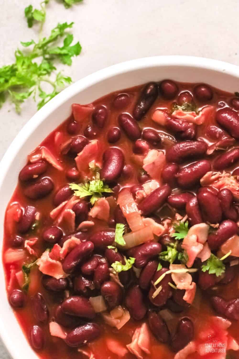 Frijoles charros are pinto beans stewed in garlic, onion, tomatoes, peppers, along with whatever other ingredients popular in Mexico. via @mystayathome