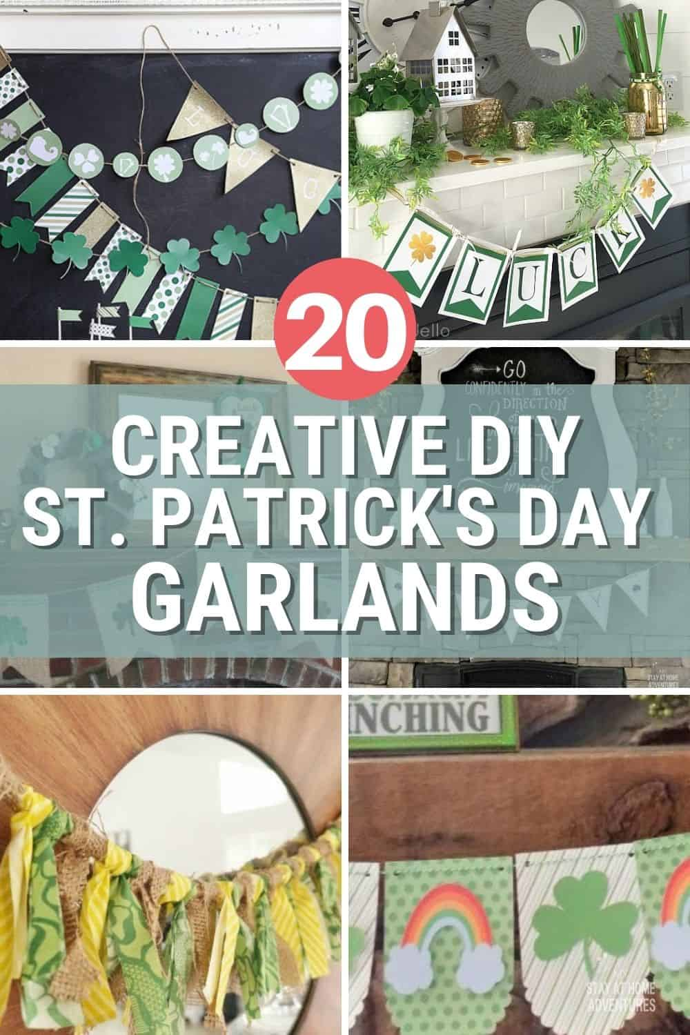 St Patrick's Day is just around the corner, and if you are looking for a DIY Garland, we got 20 Creative DIY St. Patrick's Day Garlands. via @mystayathome