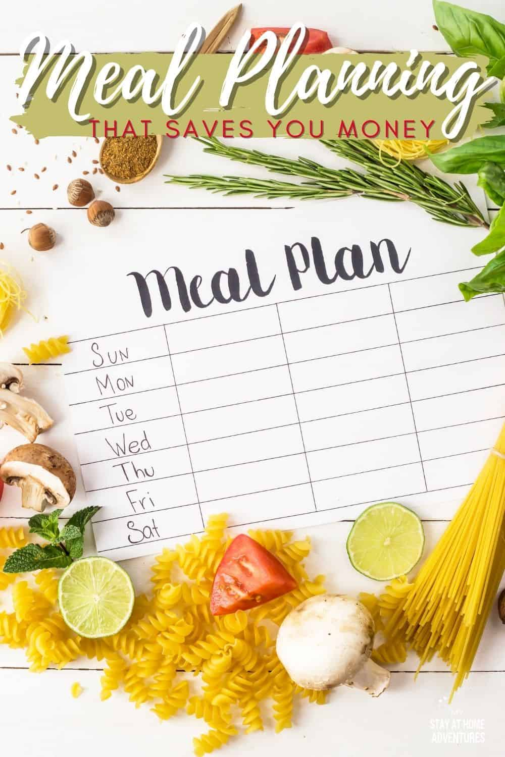 Anyone can create a meal plan, but can you create a meal plan that saves you money in one week? Learn how to create a meal plan to save you time and money. via @mystayathome