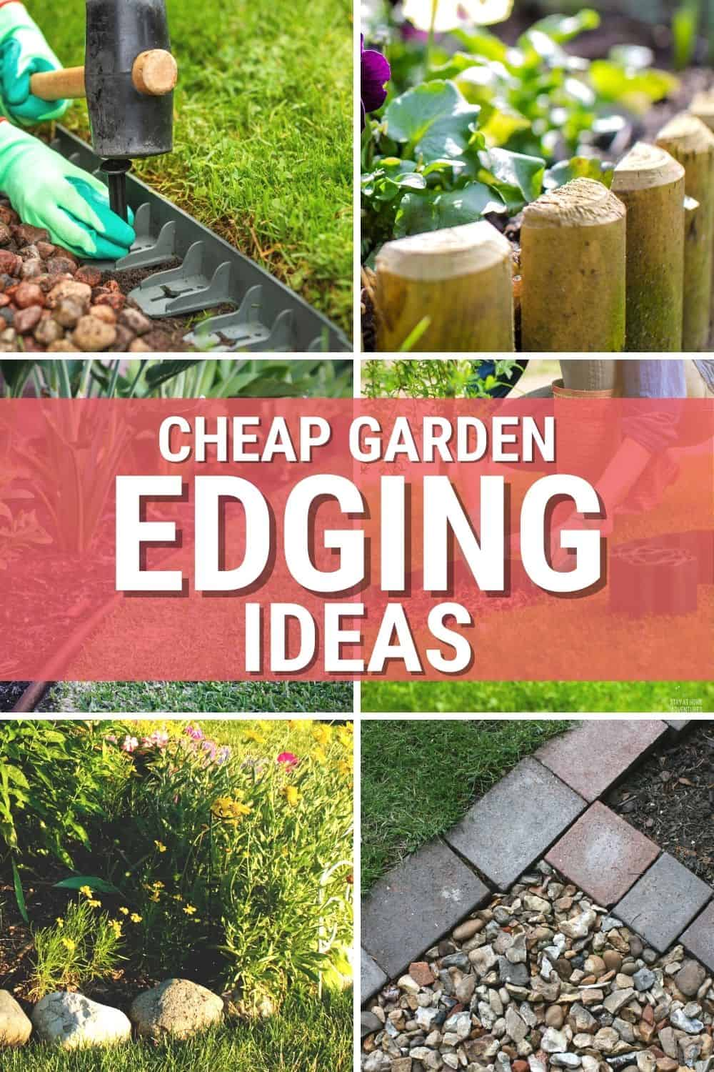 Five cheap garden edging ideas you can use in your garden and home landscape will make your outdoors look amazing. via @mystayathome