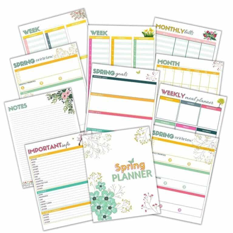Free Spring Planner