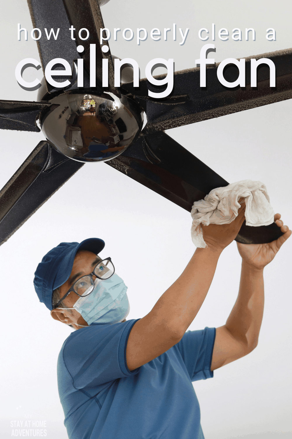 If your ceiling fan is looking a little dusty or wants to get it looking like new again, there are several ways to clean it. Here are some quick and easy tips for cleaning ceiling fans! via @mystayathome