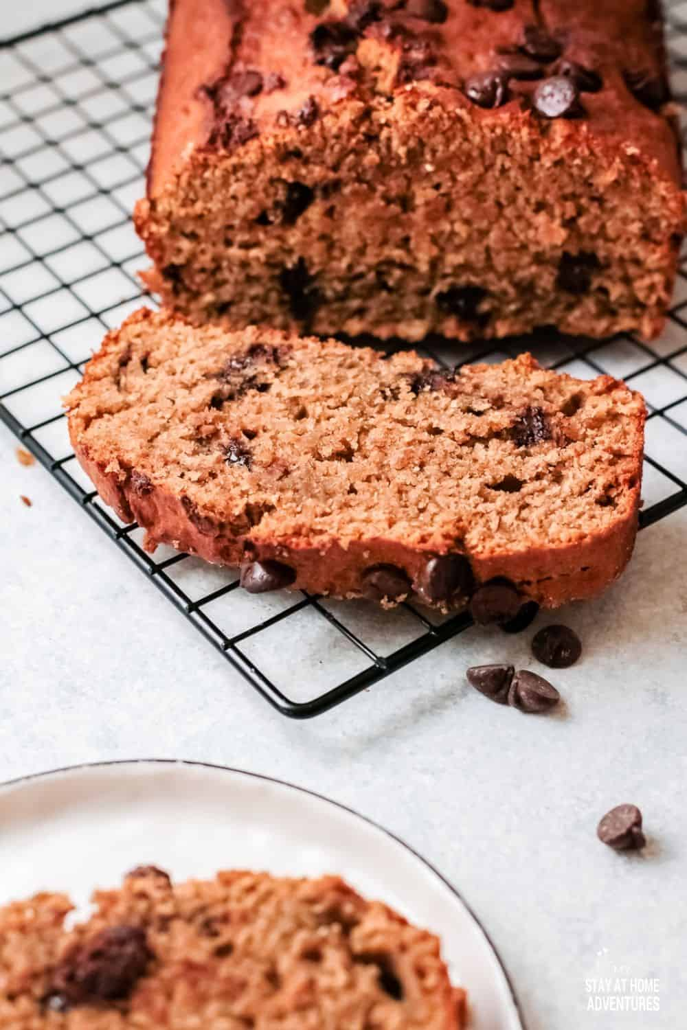 With chocolate chips and banana bread together, everybody's goin' bananas. This wonderfully delicious Chocolate Chip Banana Bread is the best! via @mystayathome