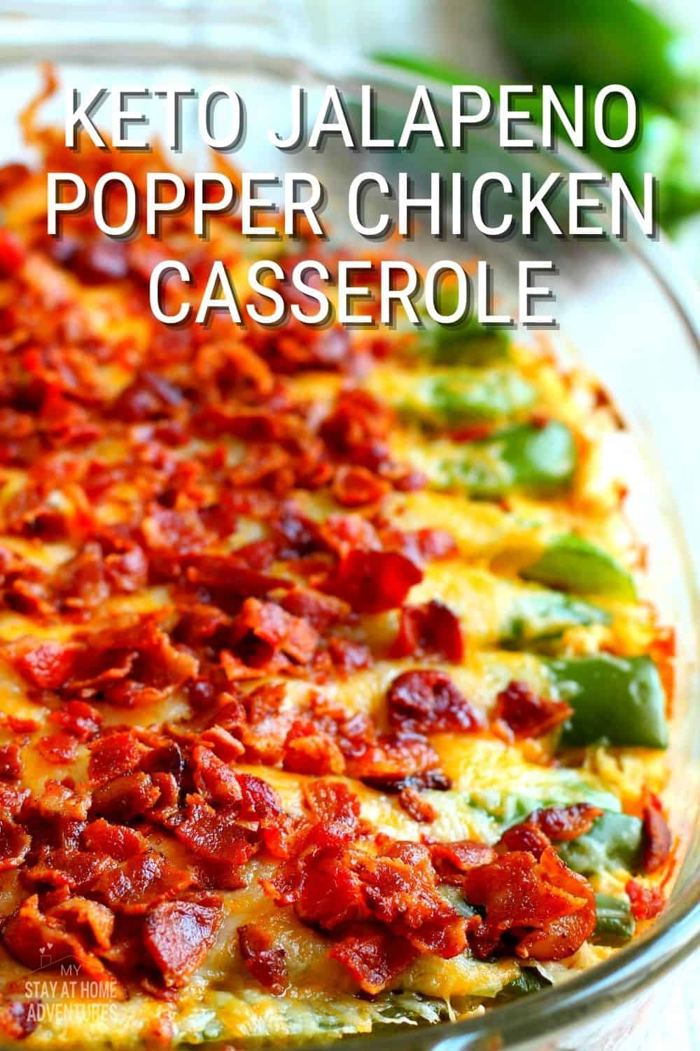 This Keto Jalapeno Popper Chicken Casserole is so creamy and packed with flavorful ingredients yet it contains very low in carbohydrates. via @mystayathome