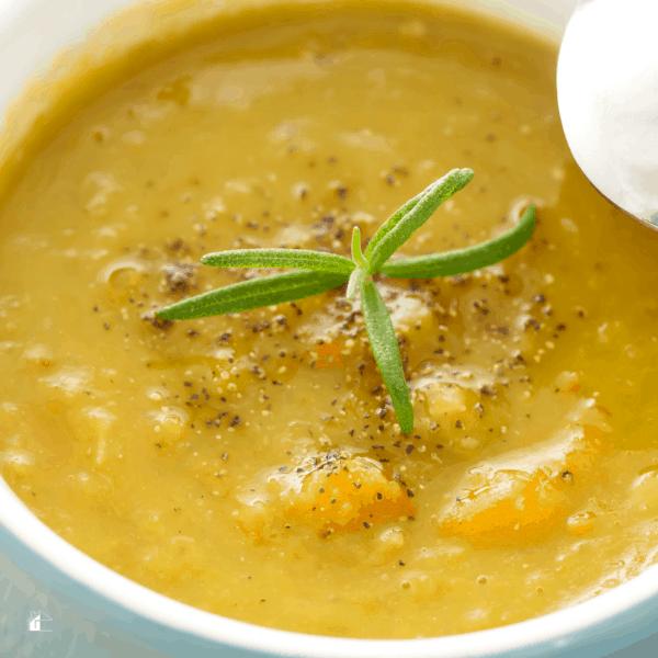 photo of lentil soup