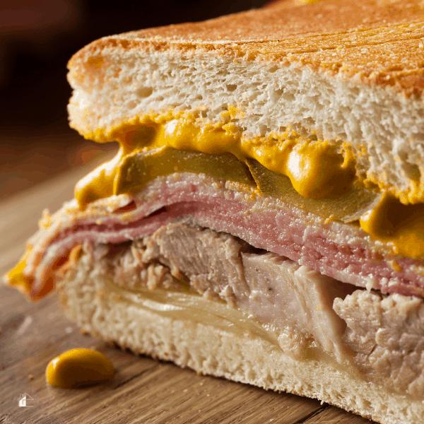 close up photo of a cuban sandwich