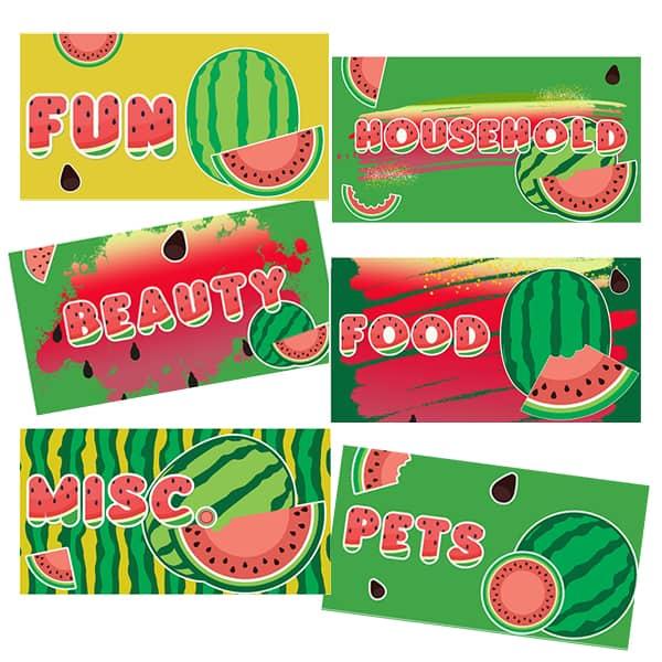 Summer Themed Cash Envelope Templates