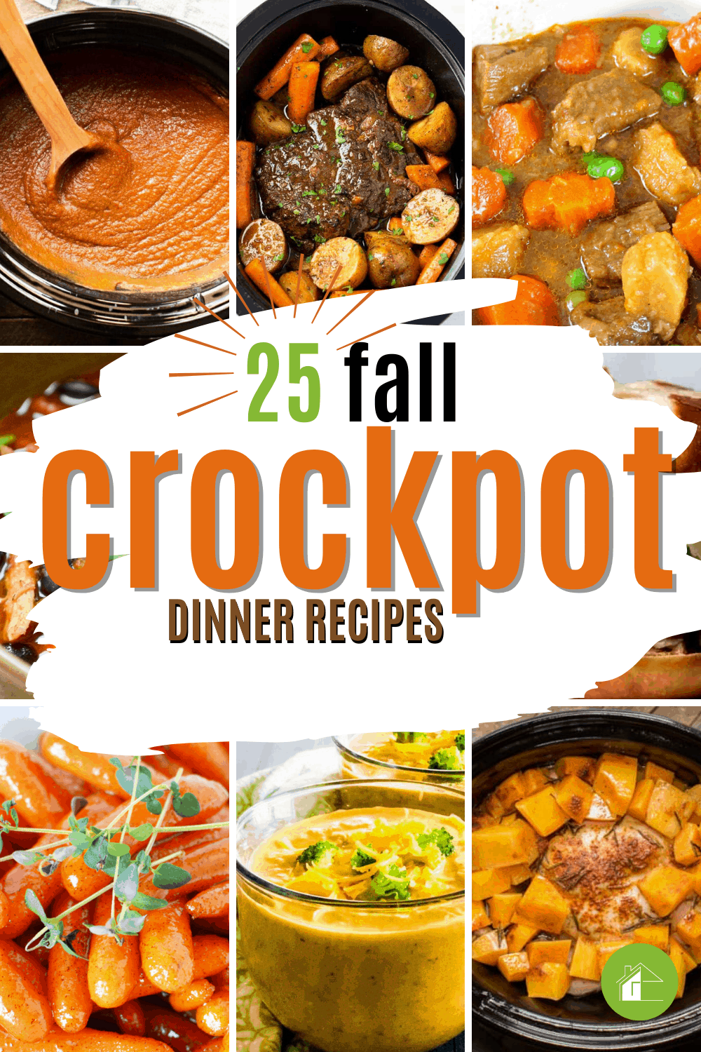 Get all the fall flavors you love with these slow cooker recipes! From fall desserts to hearty stews, there's something for every taste. #fallcrocopotrecipes #crockpotrecipes #fallrecipes via @mystayathome